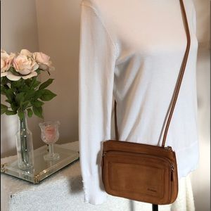 Fossil Camel Crossbody 100% Leather